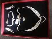 модная бижутерия (позолота и серебро проба - 925)